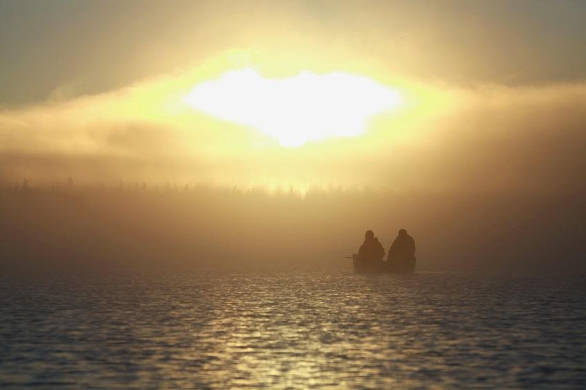 メディスンレイクの朝日